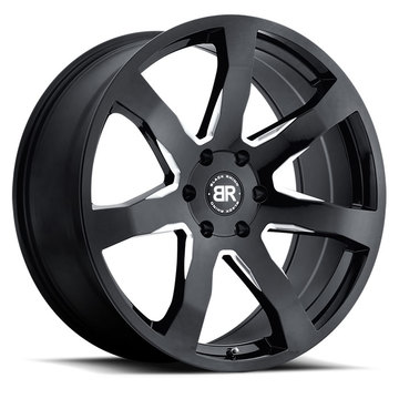 Black Rhino Mozambique Truck Wheels - Gloss Black with Milled Spokes Finish
