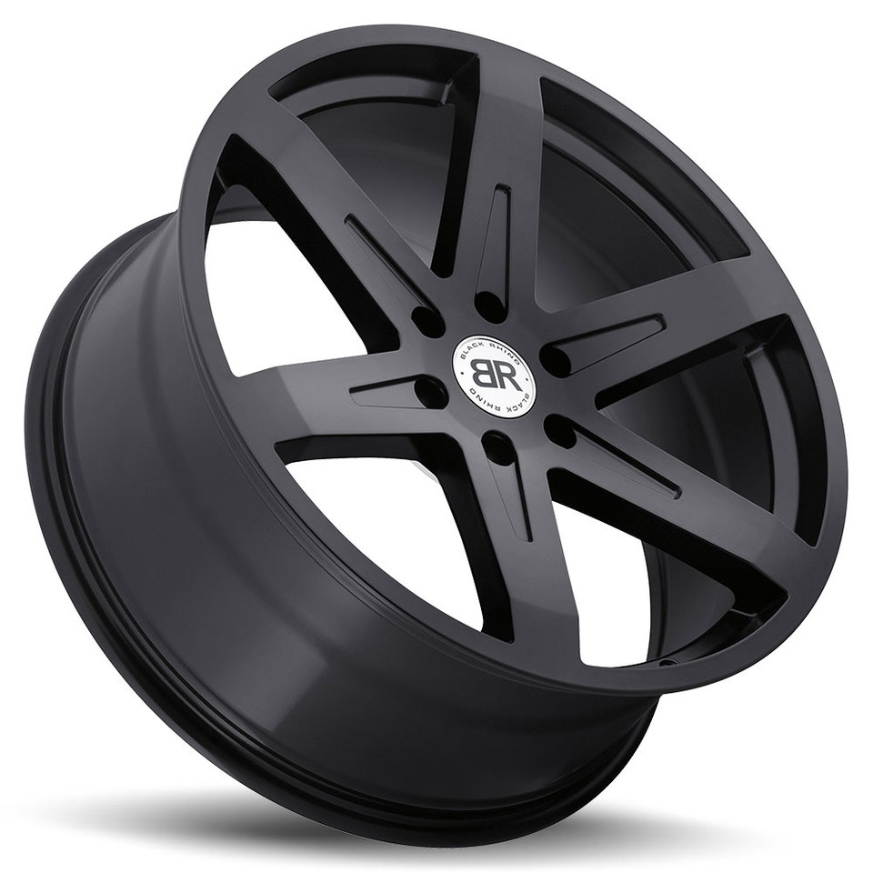 Black Rhino Peak Matte Black Truck Wheels - Lay