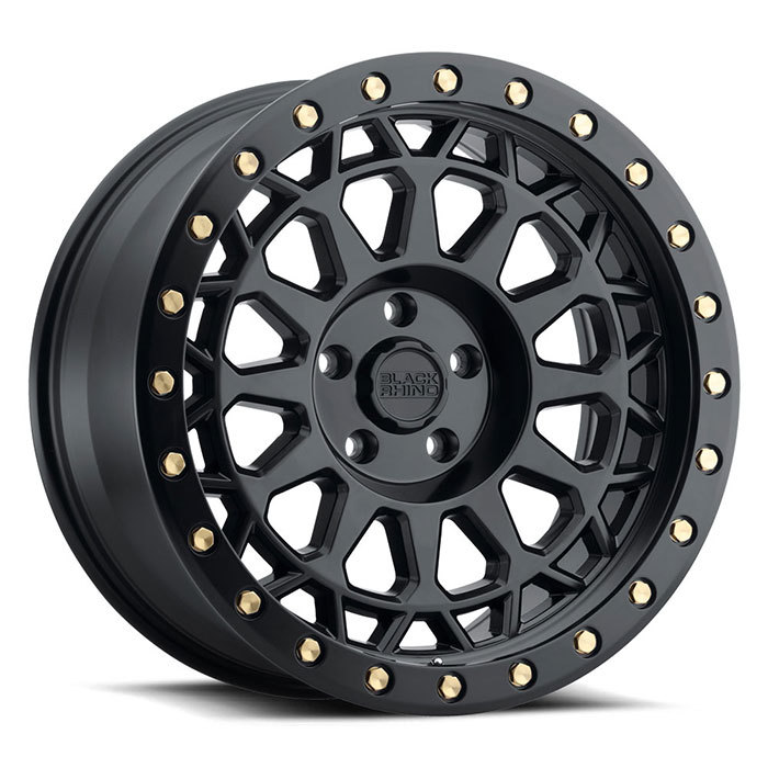 Black Rhino Primm Matte Black with Brass Bolts Finish Off Road Wheels