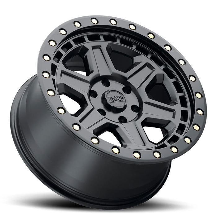Black Rhino Reno Matte Black with Brass Bolts Finish Off Road Wheels