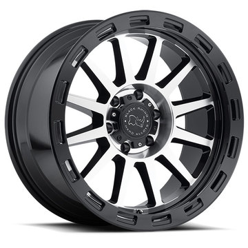 Black Rhino Revolution Gloss Black with Machine Face Finish Off Road Wheels