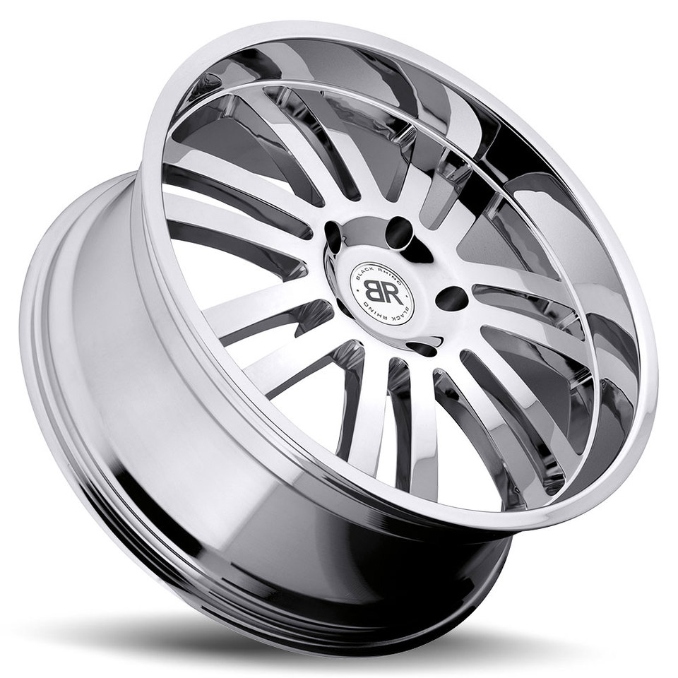 Black Rhino Robberg Chrome Truck Wheels - Lay