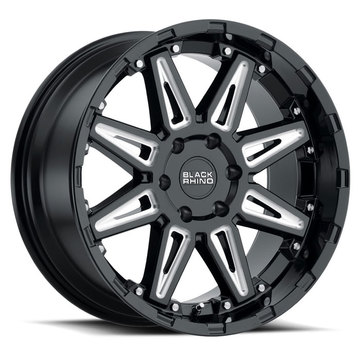 Black Rhino Rush Gloss Black with Milled Spokes Finish Off Road Wheels