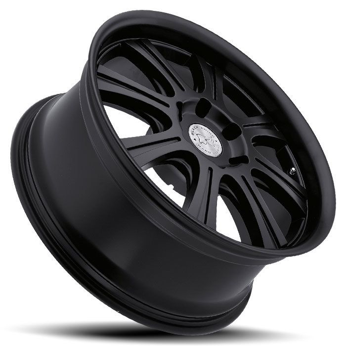 Black Rhino Sabi Matte Black Truck Wheels - Lay