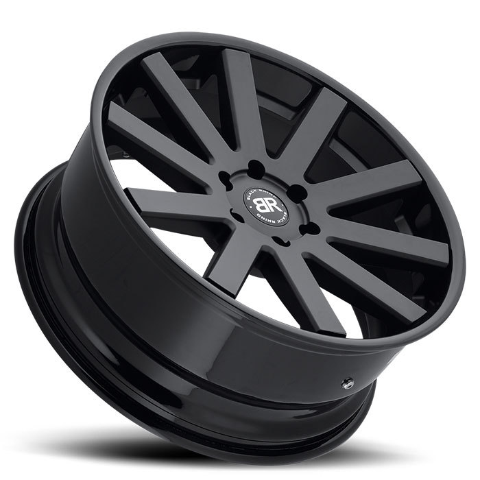 Black Rhino Savannah Truck Wheels - Matte Black with Gloss Black Lip Finish