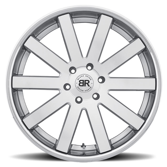 Black Rhino Savannah Truck Wheels - Silver with Machine Face Finish