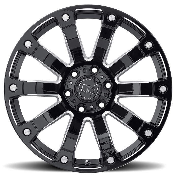 Black Rhino Selkirk Gloss Black and Milled Finish Off Road Wheels