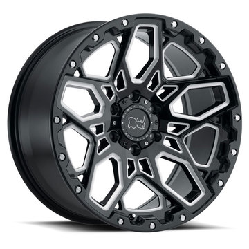 Black Rhino Shrapnel Gloss Black with Milled Spokes Finish Off Road Wheels
