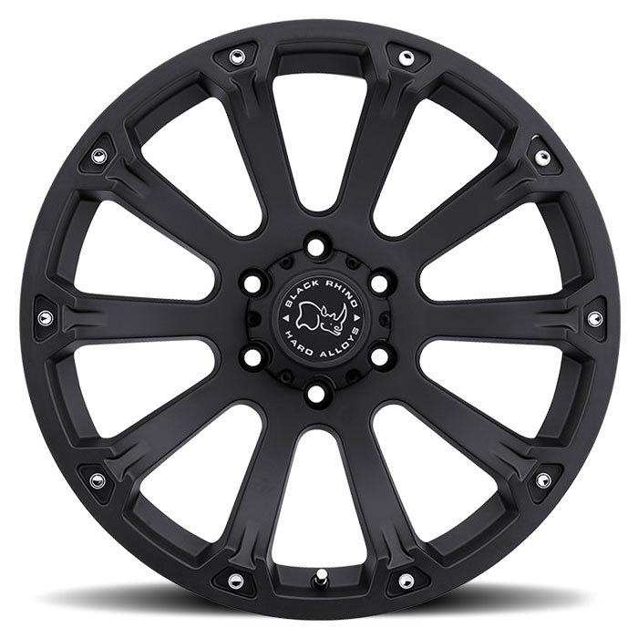 Black Rhino Sidewinder Matte Black Off Road Wheels - Face