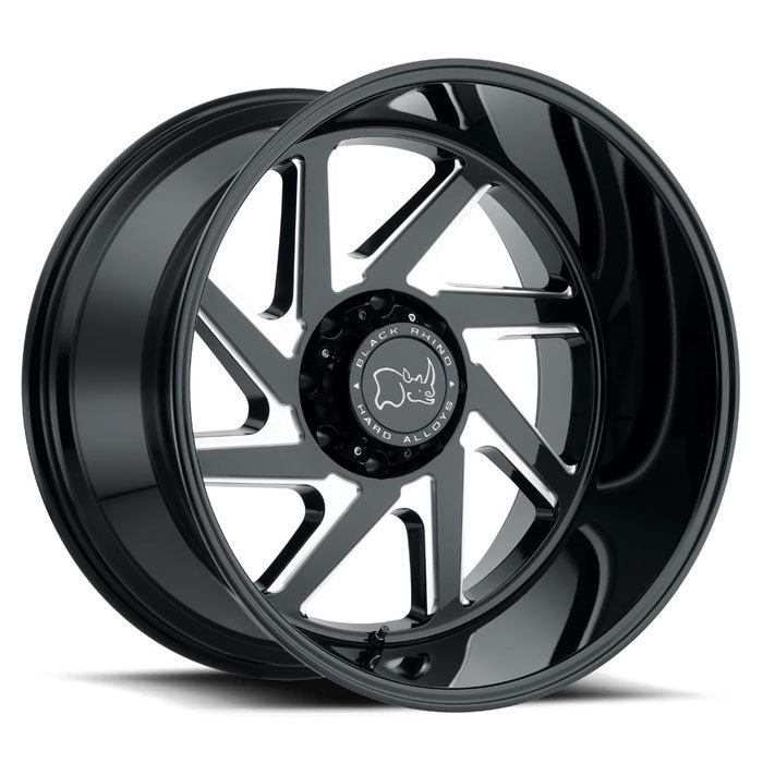 Black Rhino Swerve Gloss Black with Double Milled Spokes Finish Off Road Wheels