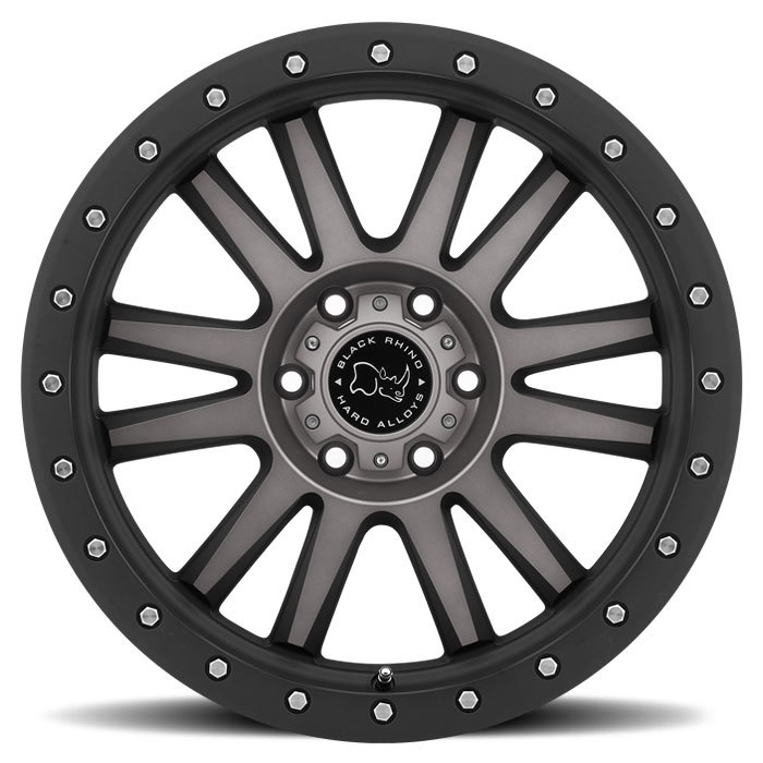 Black Rhino Tanay Off Road Wheels - Matte Black with Machined Face and Dark Matte Finish