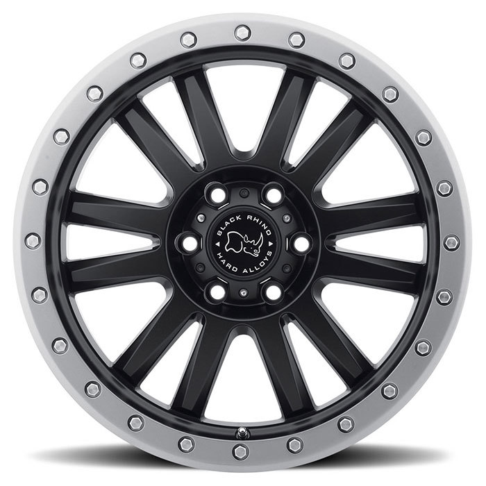 Black Rhino Tanay Off Road Wheels - Matte Black with Graphite Lip Finish