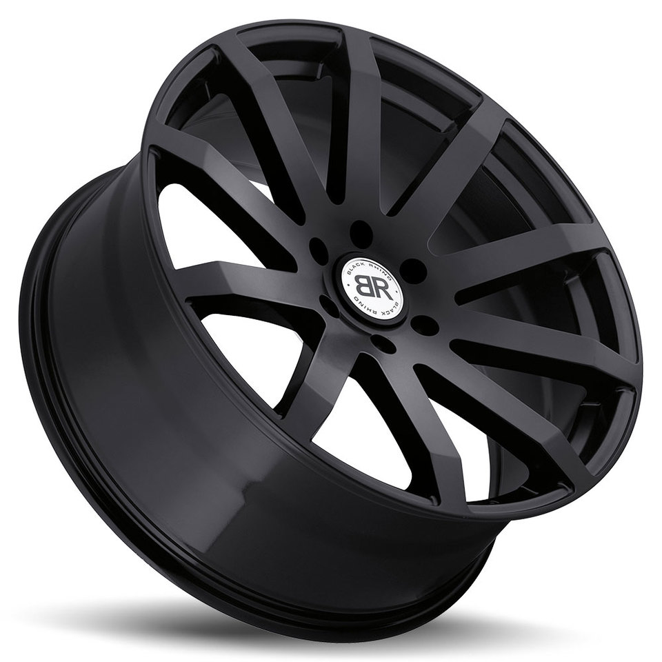Black Rhino Traverse Matte Black Truck Wheels - Lay