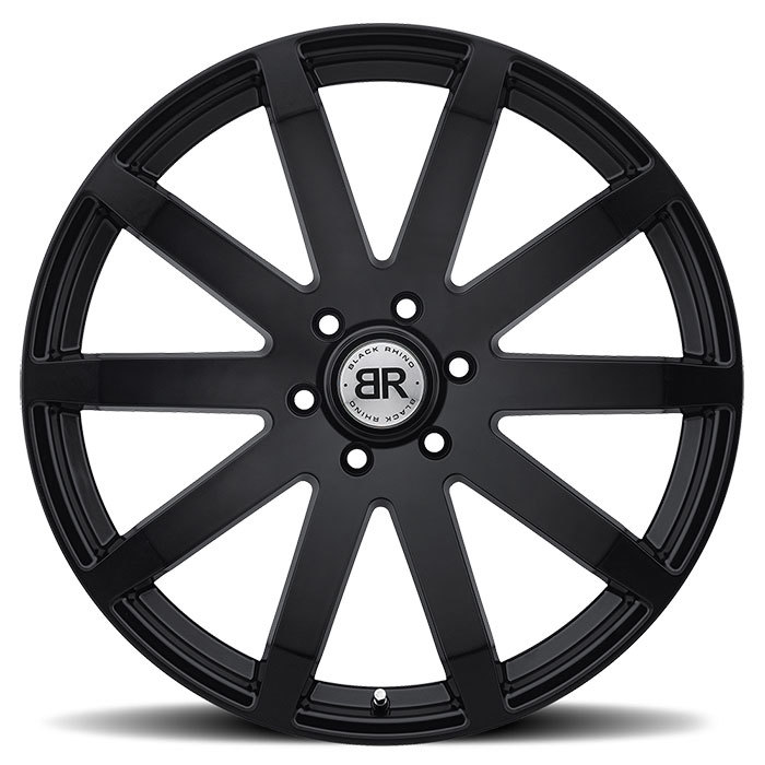 Black Rhino Traverse Matte Black Truck Wheels - Face