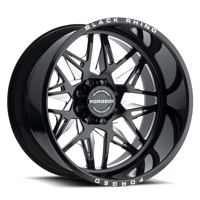 Black Rhino Twister Forged Monoblock Wheels Gloss Black with Milled Spokes Finish