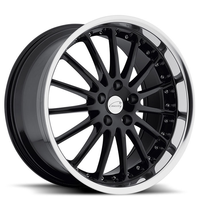 Coventry Whitley Gloss Black with Mirror Cut Lip Jaguar Wheels - Standard