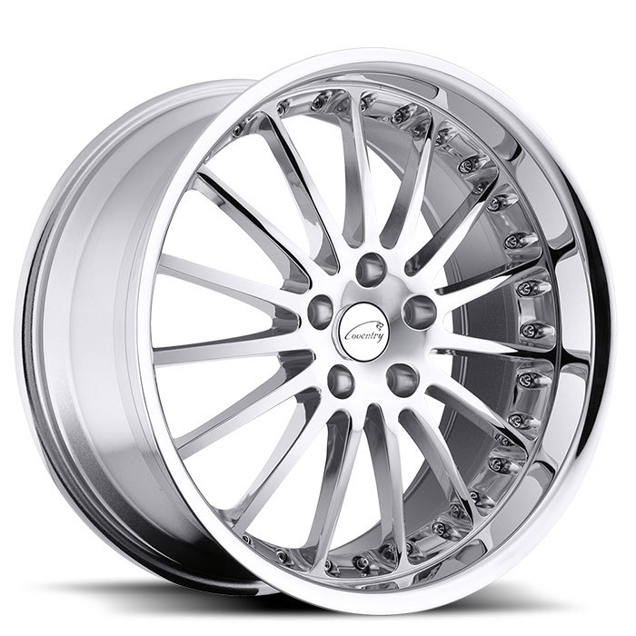 Coventry Whitley Chrome Jaguar Wheels - Standard