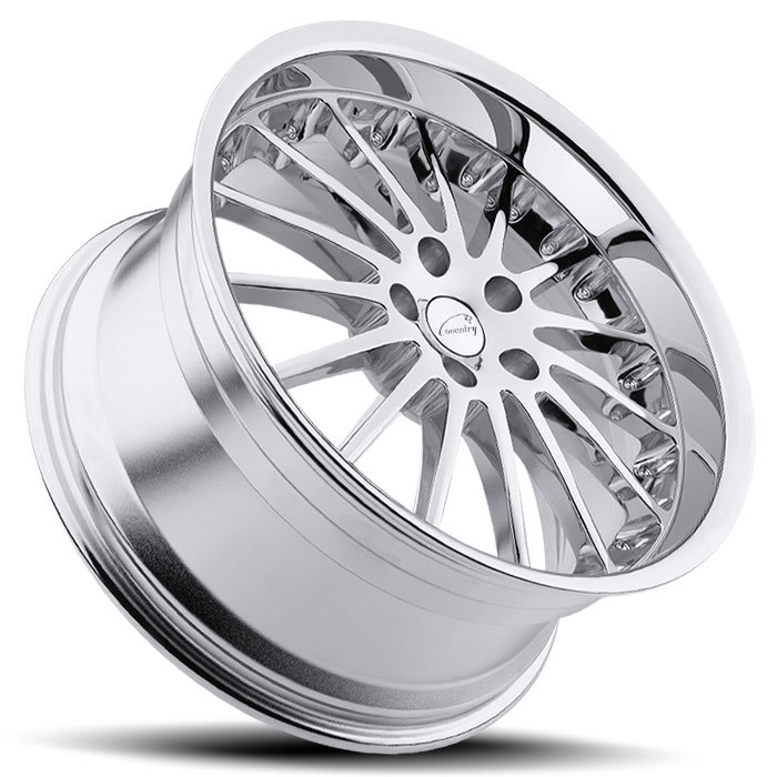 Coventry Whitley Chrome Jaguar Wheels - Lay