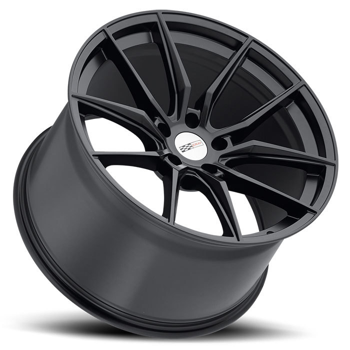 Cray Spider Matte Black Finish Corvette Wheels