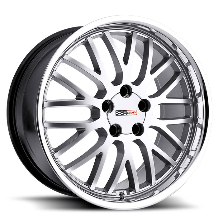 Cray Manta Hyper Silver with Mirror Cut Lip Corvette Wheels - Standard
