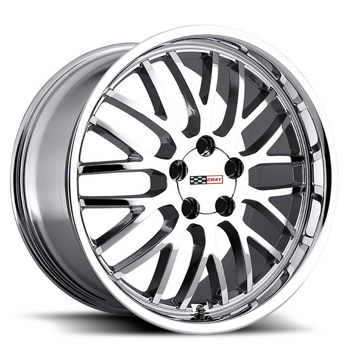 Cray Manta Chrome Corvette Wheels - Standard