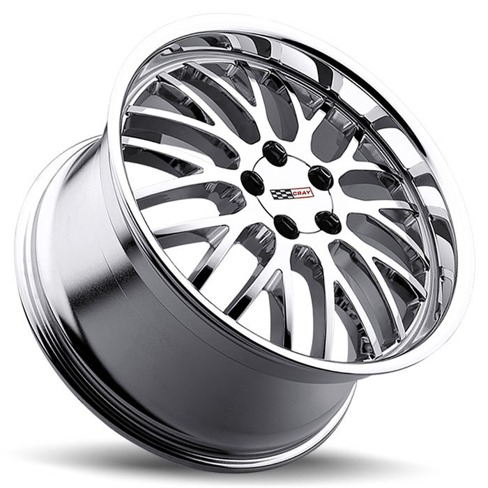 Cray Manta Chrome Corvette Wheels - Lay