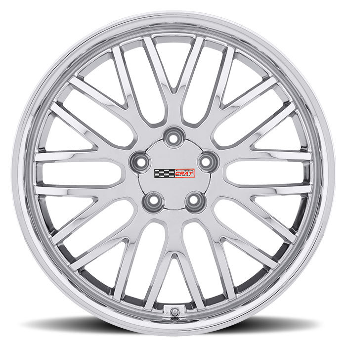 Cray Manta Chrome Corvette Wheels - Face