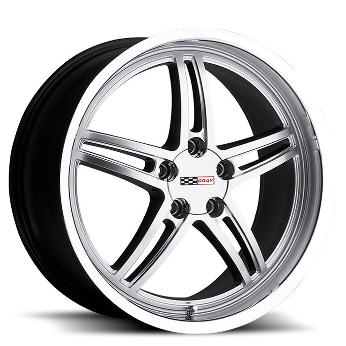 Cray Scorpion Hyper Silver with Mirror Cut Lip Corvette Wheels - Standard