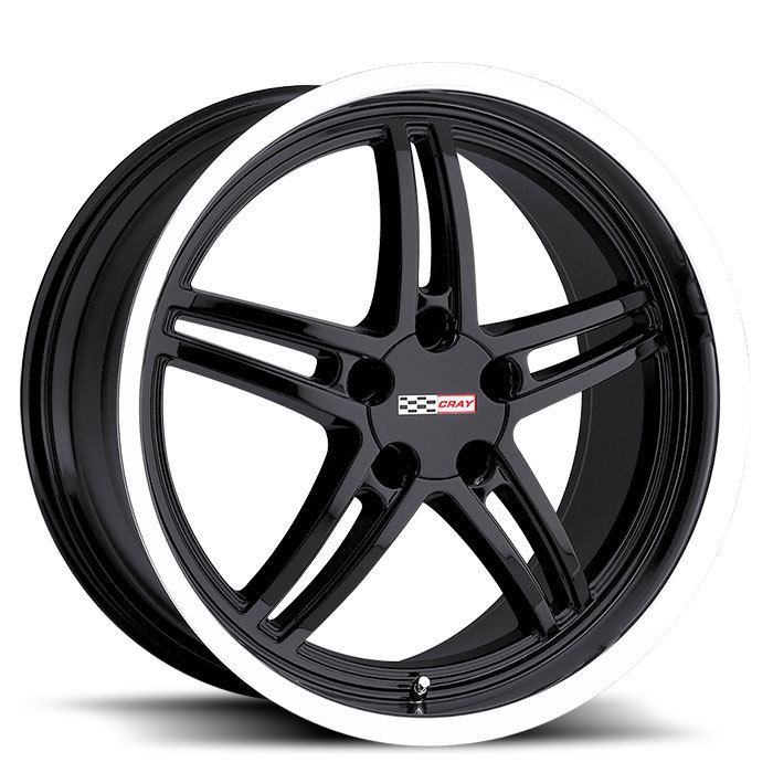 Cray Scorpion Gloss Black with Mirror Cut Lip Wheels - Standard