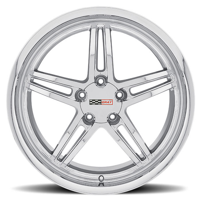 Cray Scorpion Chrome Corvette Wheels - Face