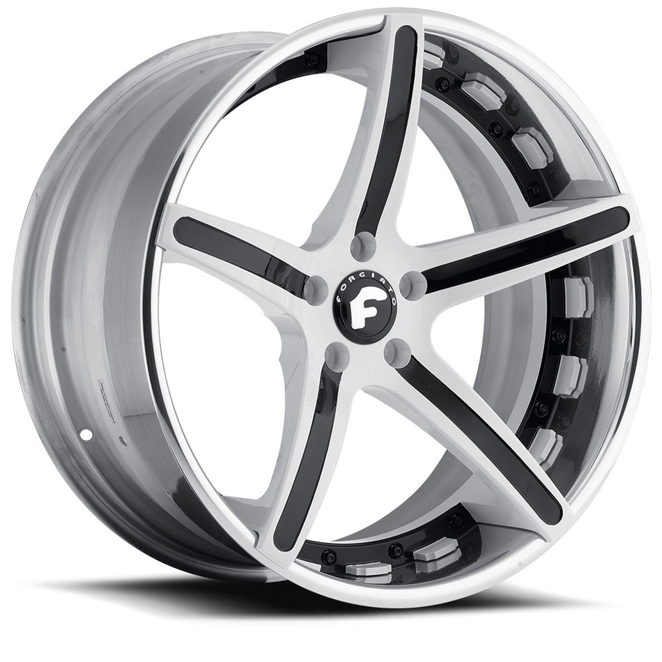Forgiato Aggio-ECL White and Black Center with Chrome Lip Finish Wheels