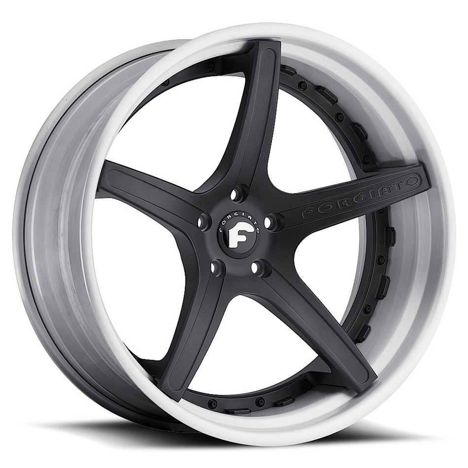 Forgiato Aggio-ECL Black Center with White Lip Finish Wheels