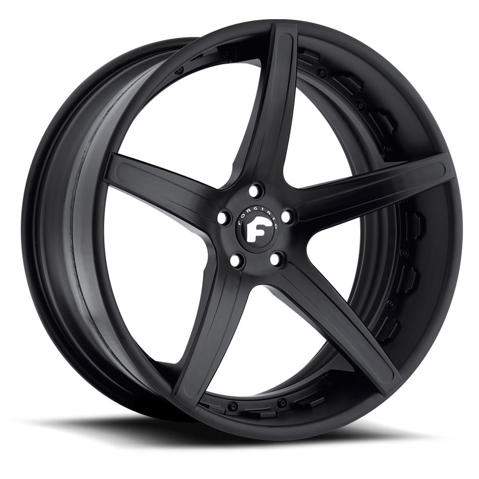 Forgiato Aggio-ECL Black Finish Wheels