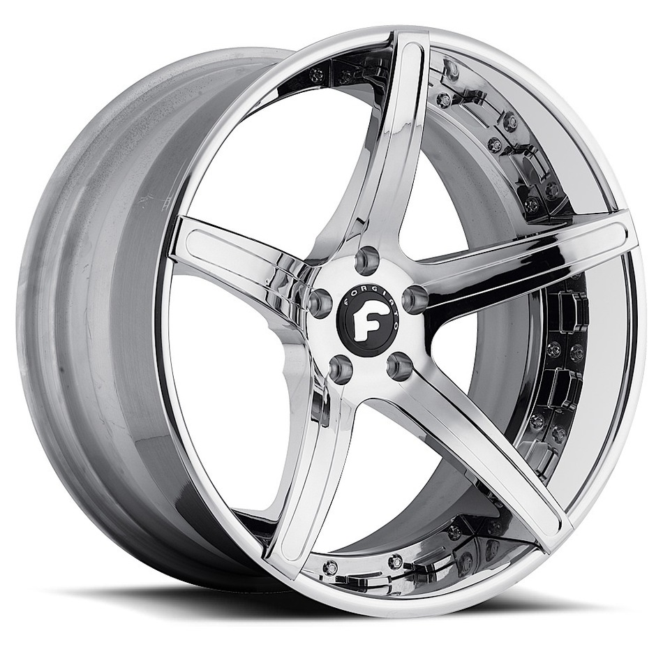 Forgiato Aggio-ECL Chrome Finish Wheels