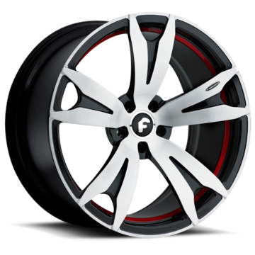 Forgiato Aguzzo-M Satin Red and Black Finish Wheels