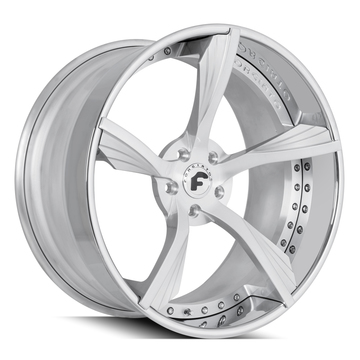 Forgiato Alettato Brushed and Chrome Finish Wheels
