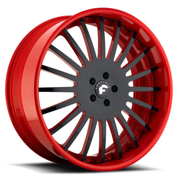 Forgiato Andata Black and Red Center Finish Wheels