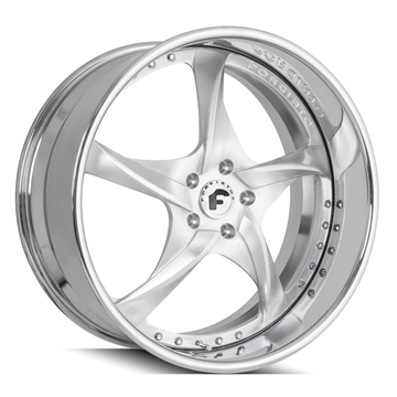 Forgiato Appuntito Brushed and Chrome Finish Wheels