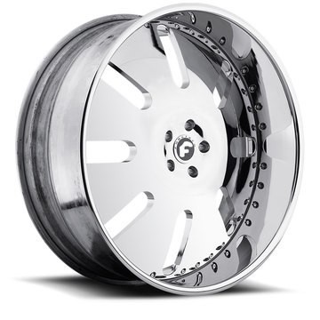 Forgiato Aresto Chrome Finish Wheels