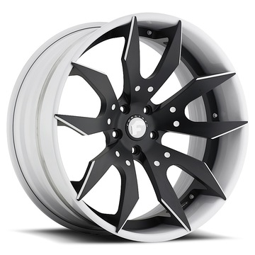 Forgiato Artigli-ECL Black and White Center with White Lip Finish Wheels
