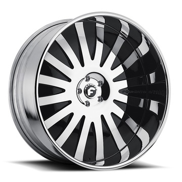 Forgiato Audace-L Chrome and Black Center with Chrome Lip Finish Wheels