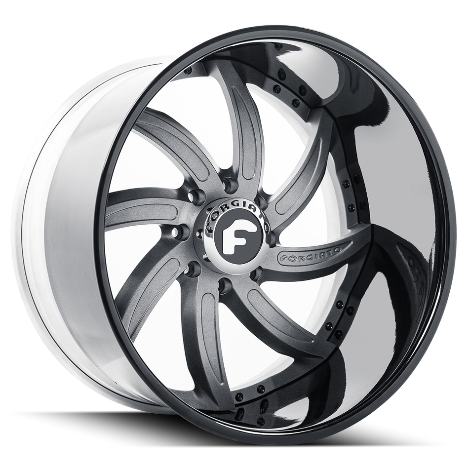Forgiato Azioni Gray and Black Finish Wheels