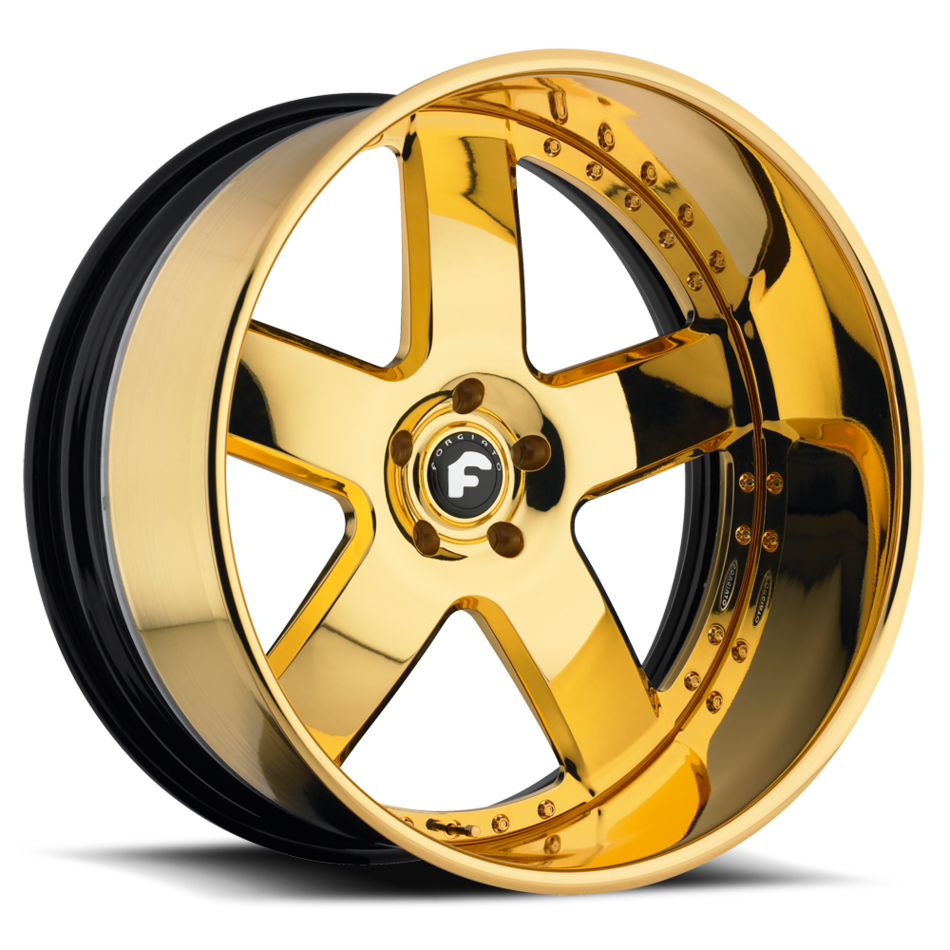 Forgiato Barra Gold Finish Wheels