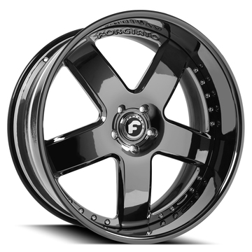 Forgiato Barra Black Chrome Finish Wheels