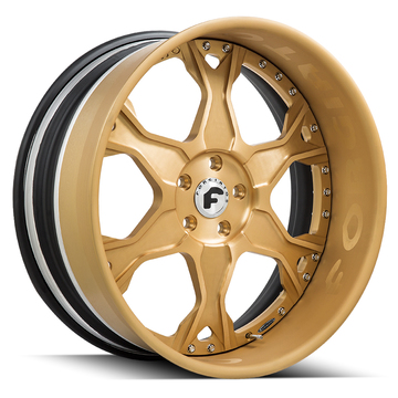 Forgiato Braccio Anodized Gold Finish Wheels