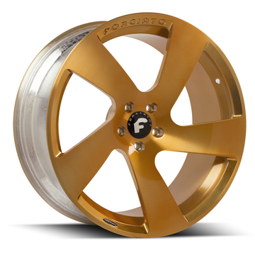 Forgiato Bullone-5-M Gold Finish Wheels