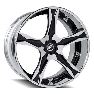 Forgiato Cavita-ECL Chrome and Black Center with Chrome Lip Finish Wheels