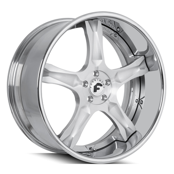 Forgiato Cavita Brushed and Chrome Finish Wheels