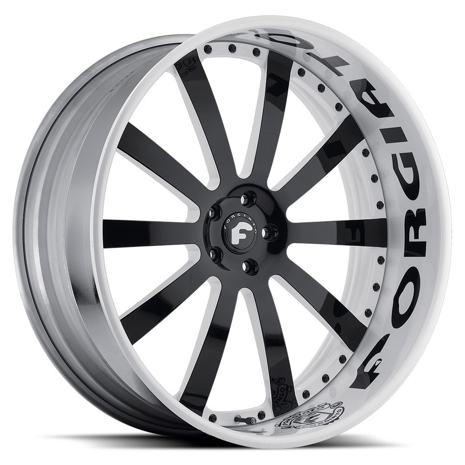 Forgiato Concavo Black Center with White Lip Finish Wheels
