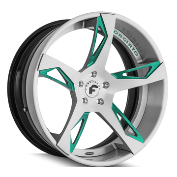 Forgiato Copiato-ECL Brushed and Green Finish Wheels